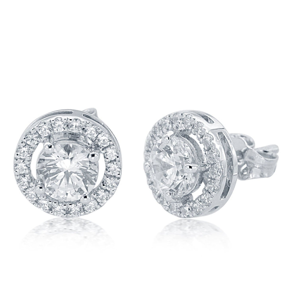 Women's Halo Stud Earrings