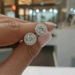 Earrings Women's Halo Stud Earrings