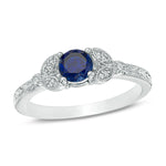 Engagement Rings 10k Solid White Gold Blue Sapphire With Diamond Engagement Ring 1ct