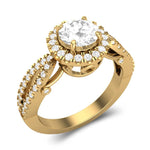 Engagement Rings 10k Yellow Gold Halo Engagement Ring