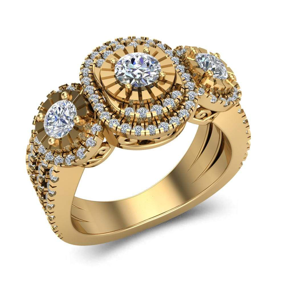 10k Yellow Gold Ladies Engagement Ring