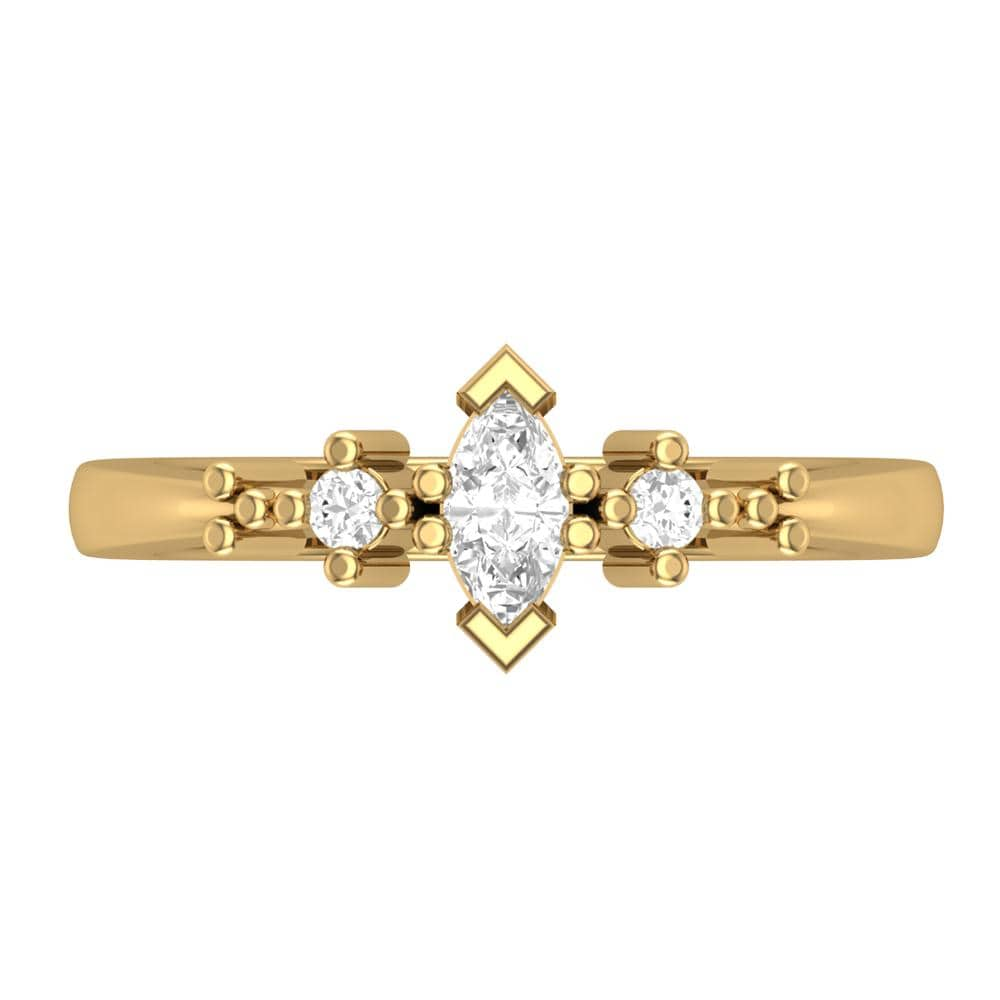 Engagement Rings 10k Yellow Gold Three Stone Engagement Ring