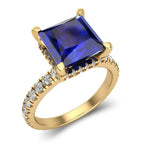 Blue Sapphire Engagement Wedding Ring