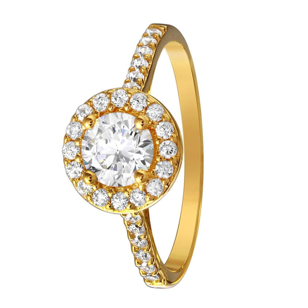 Brilliant Cut Halo Engagement Rings