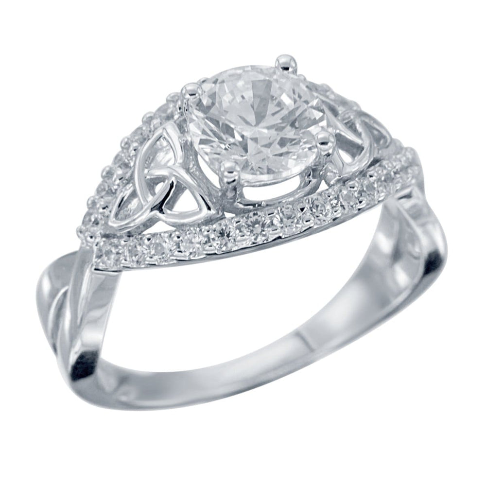 Engagement Rings Diamond Finish Celtic Knot Engagement Ring