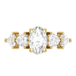 Engagement Rings Diamond Five-Stone Engagement Wedding Ring