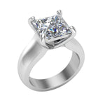 10k White Gold Princess Cut Solitaire Rings