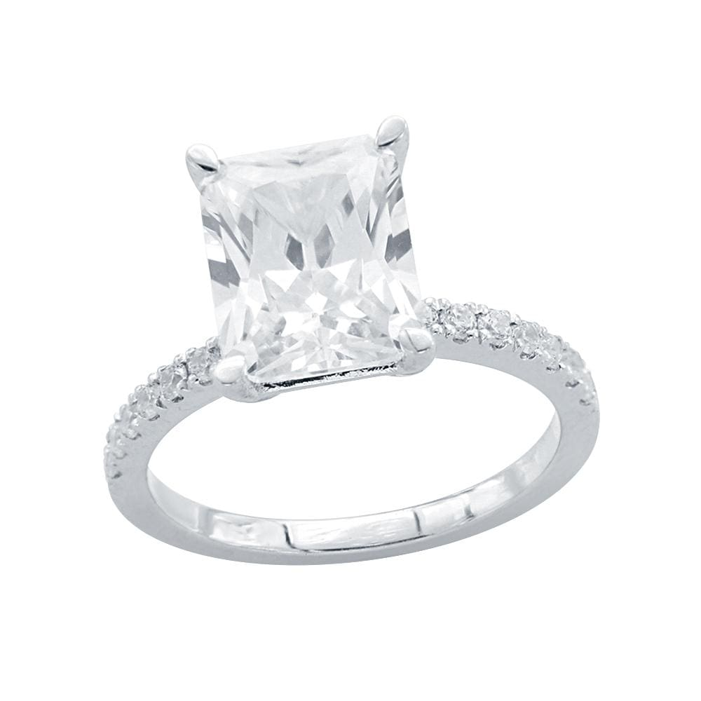 Solitaire Radiant Engagement Rings