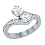 Forever Us Diamond 2.00 Carat Engagement Ring