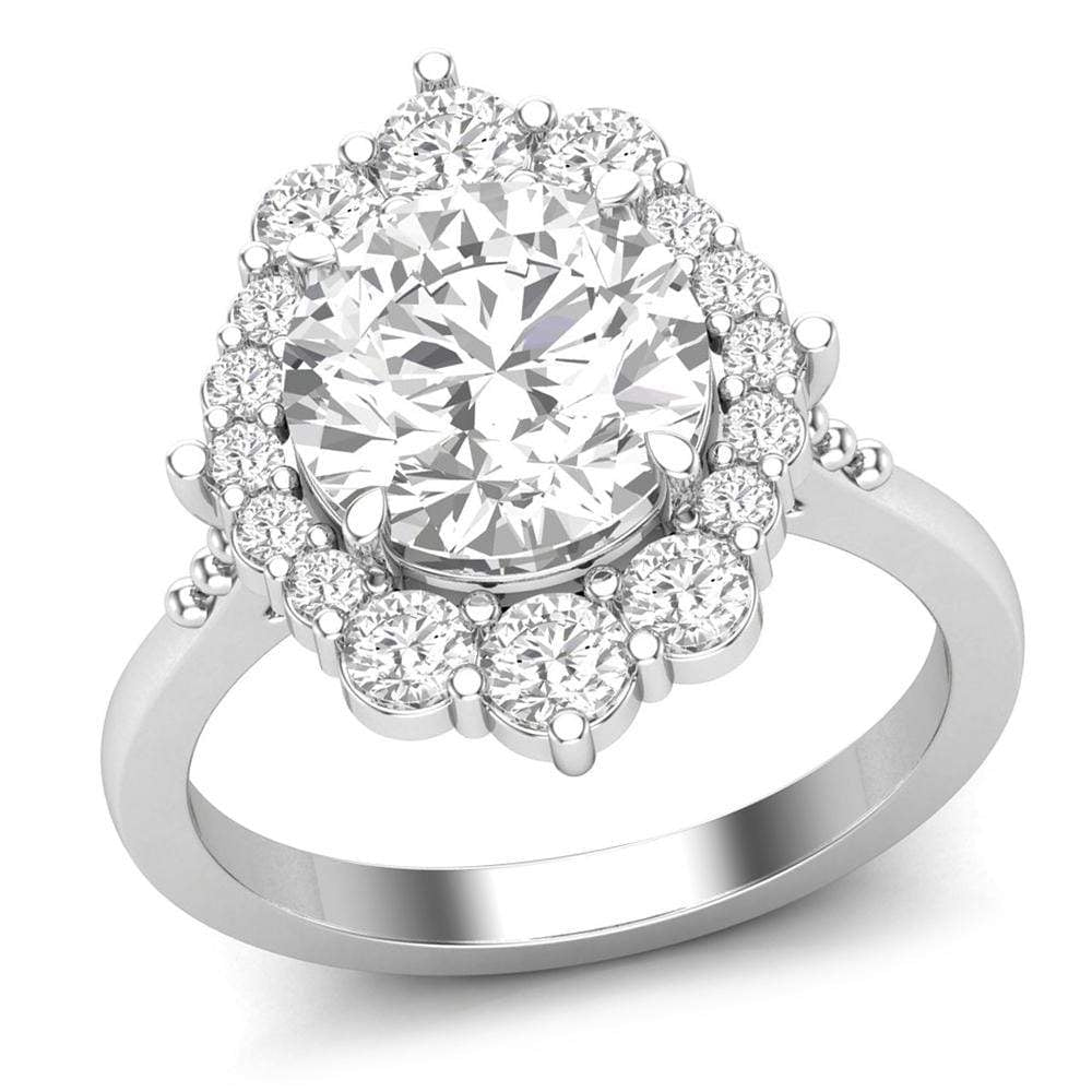 Halo Engagement Ring For Women