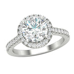 Halo Engagement Solitaire Ring
