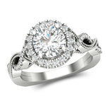 Engagement Rings Halo Twisted Engagement Ring For Women's