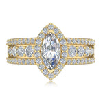 Engagement Rings Marquise Cut Diamond Ladies Engagement Ring