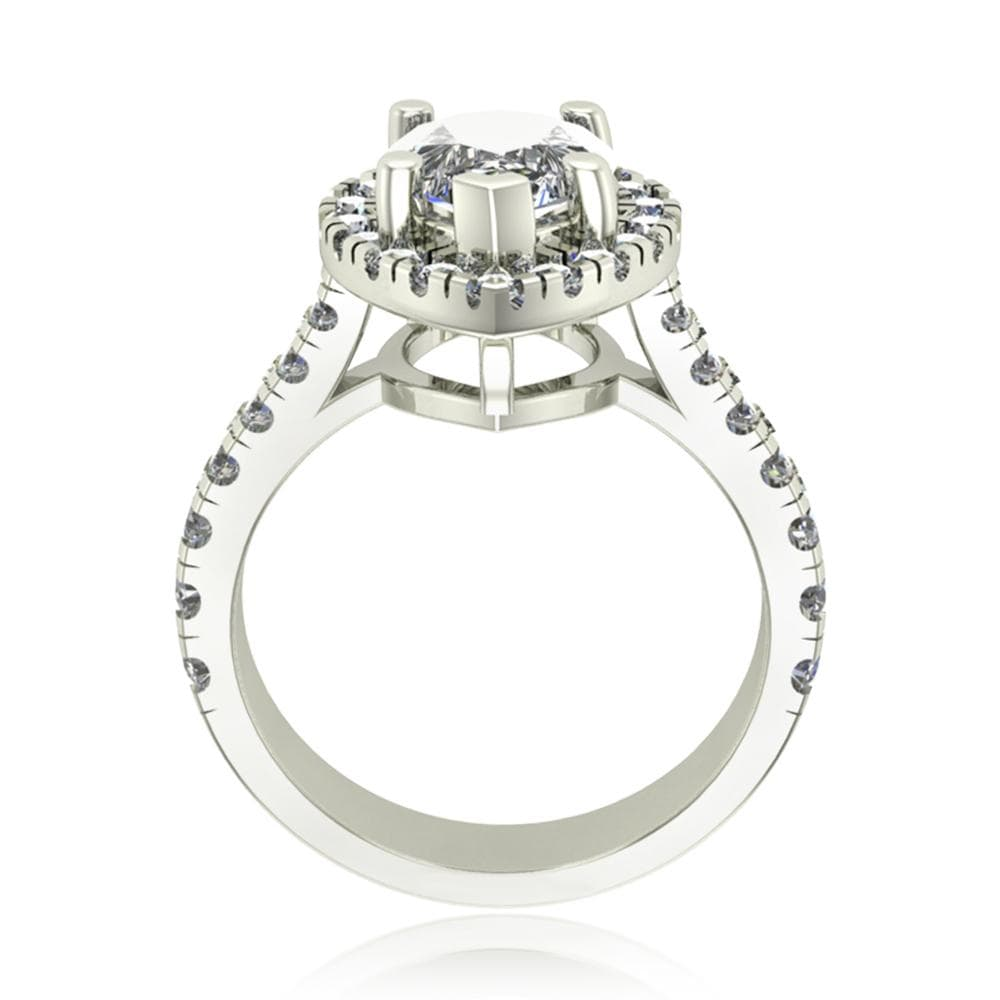 Engagement Rings Pear Shape Diamond Halo Engagement Ring