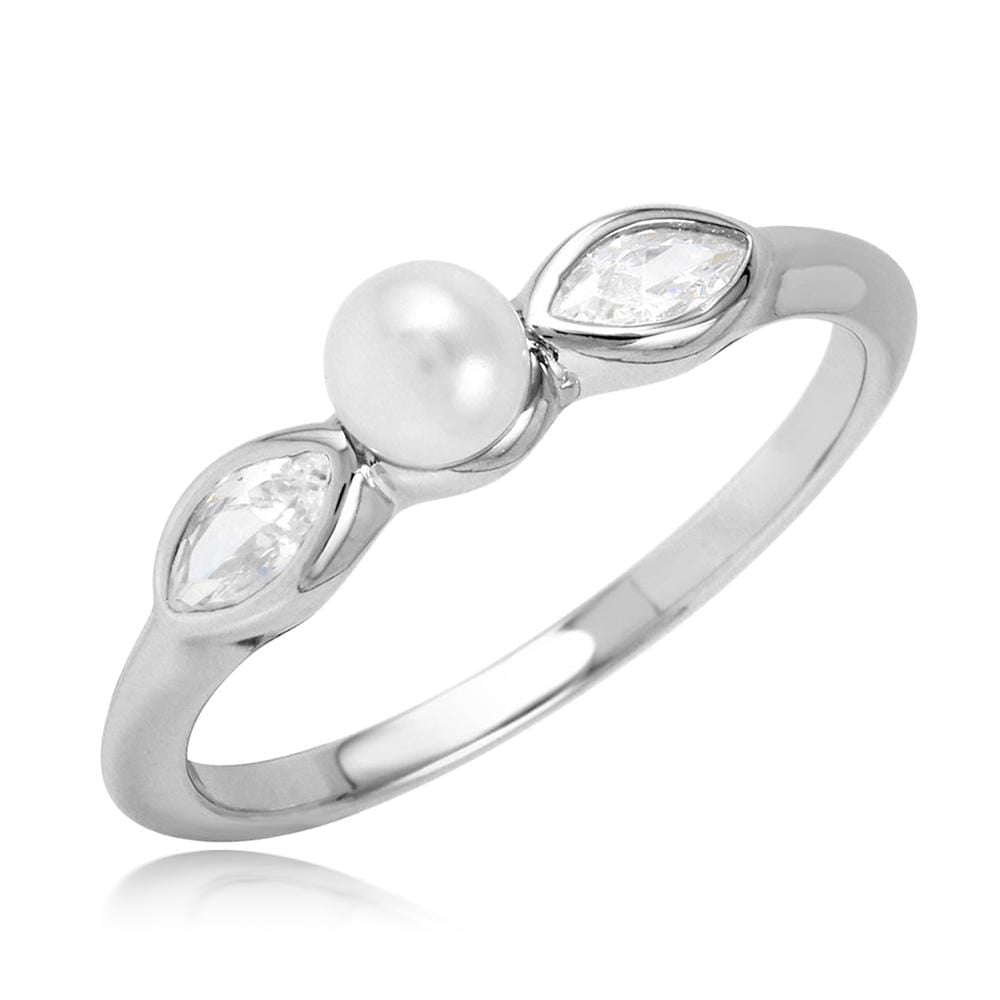 Pearl Marquise Shape Ring