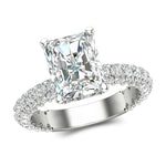Radiant Cut Engagement Ring For Women's