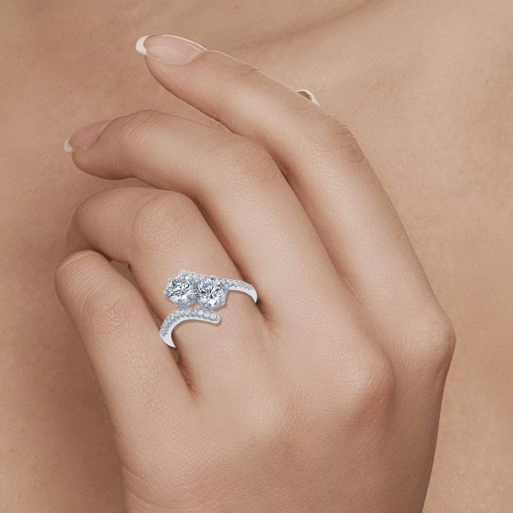 Engagement Rings Twogether Forever Engagement Ring Twogether Forever Engagement Ring Sterling Silver