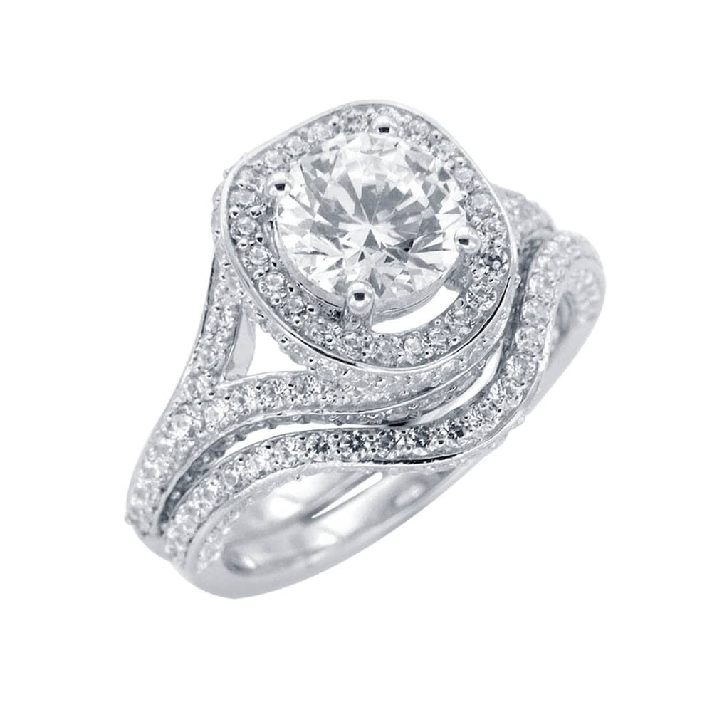 Engagment Ring Set Diamond Engagement Wedding Ring Bridal Set
