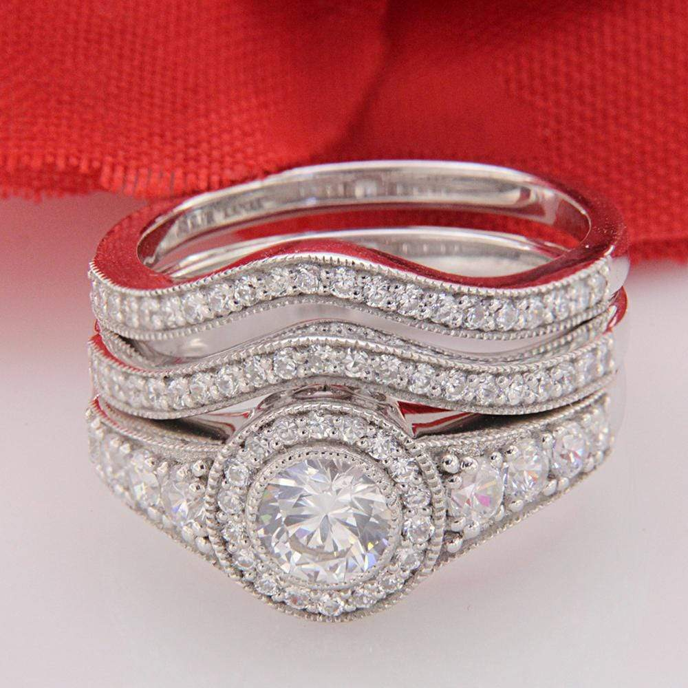 Engagment Ring Set Diamond Wedding Engagement Rings Set