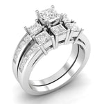 Three Stone Engagement Ring Set