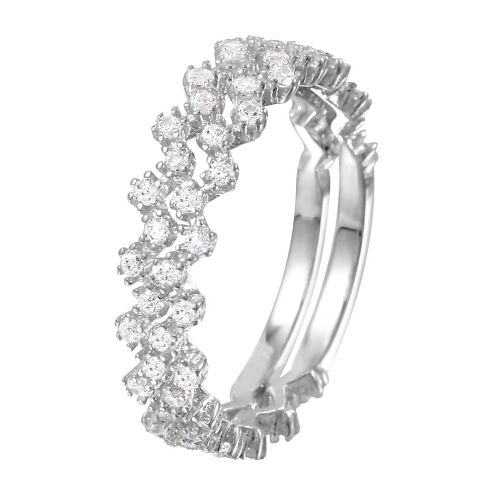 Round Cut Stackable Rings Set 2.7 mm