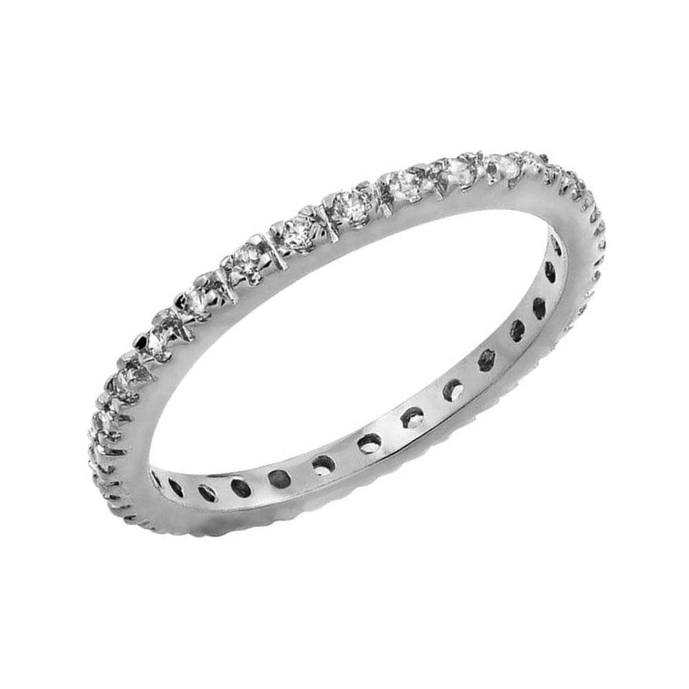 April Birthstone Eternity Band Rings