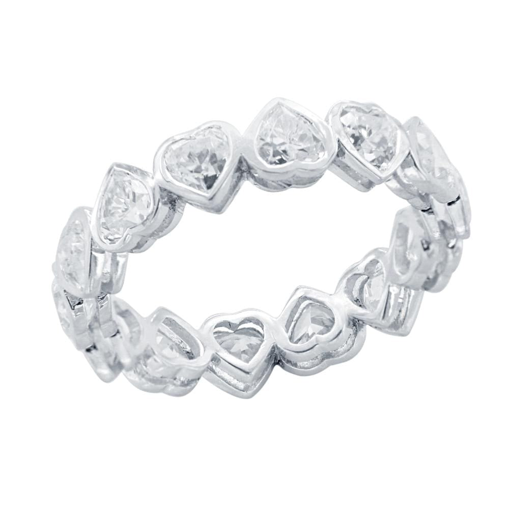 Eternity Bands Heart Shape Full Eternity Wedding Band Ring