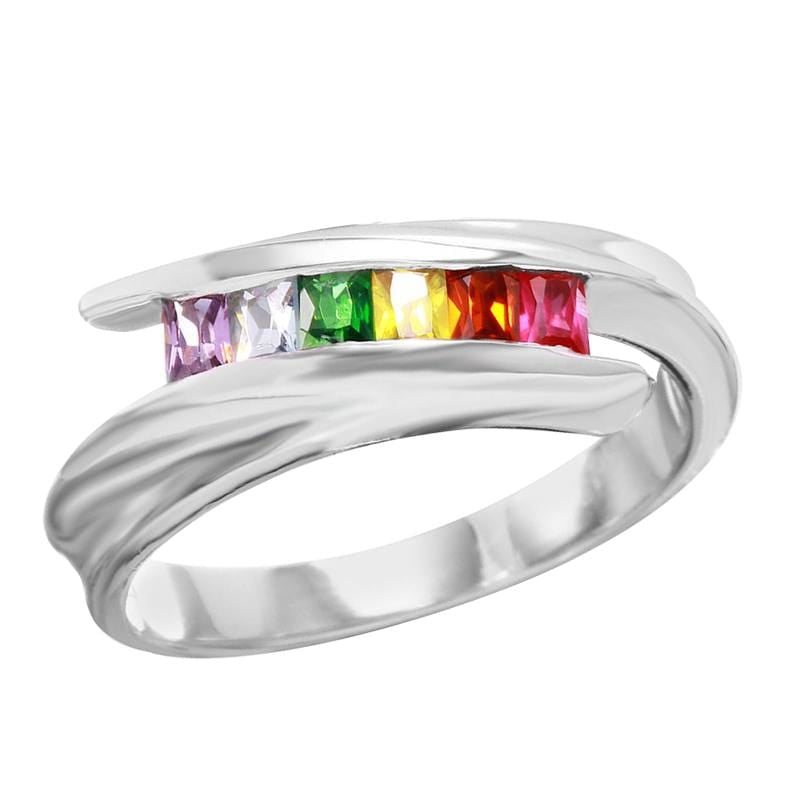 Women's Multi-Colored Full Eternity Ring