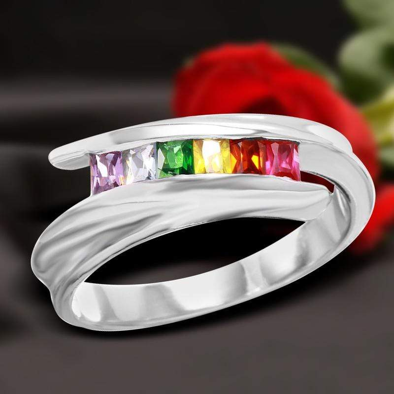 Eternity Bands Women's Multi-Colored Full Eternity Ring Multi-Colored Promise Ring