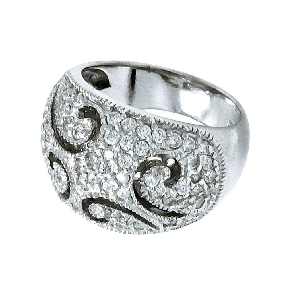 Womens Pave Set Wedding Band