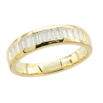 Men's Baguette Band Wedding Rings