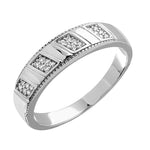 Men's Ring Diamond Mens Wedding Band