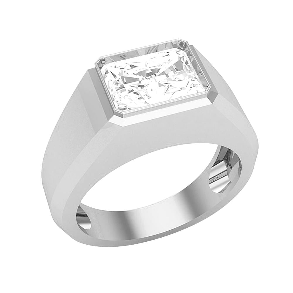 Men's Solitaire Diamond Wedding Band Ring