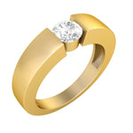 Mens Solitaire Diamond Wedding Band Ring