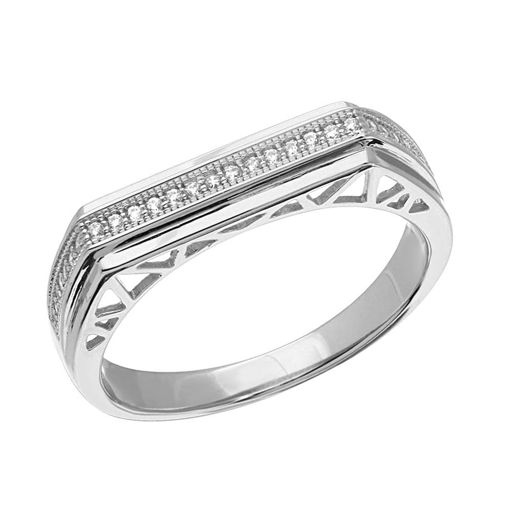 Micro Pave Designed Shank Band For Men