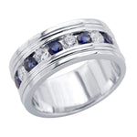 Men's Wedding Sapphire Band Ring