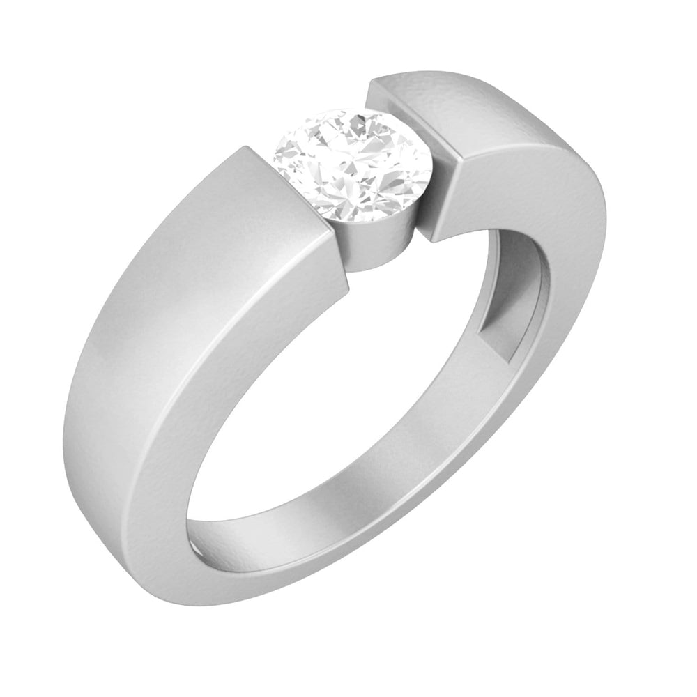 Solitaire Diamond Mens Wedding Band Ring