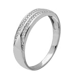 Men's Ring Tappered Shank Diamond Band For Men