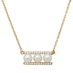 Water Pearl Bar Necklace