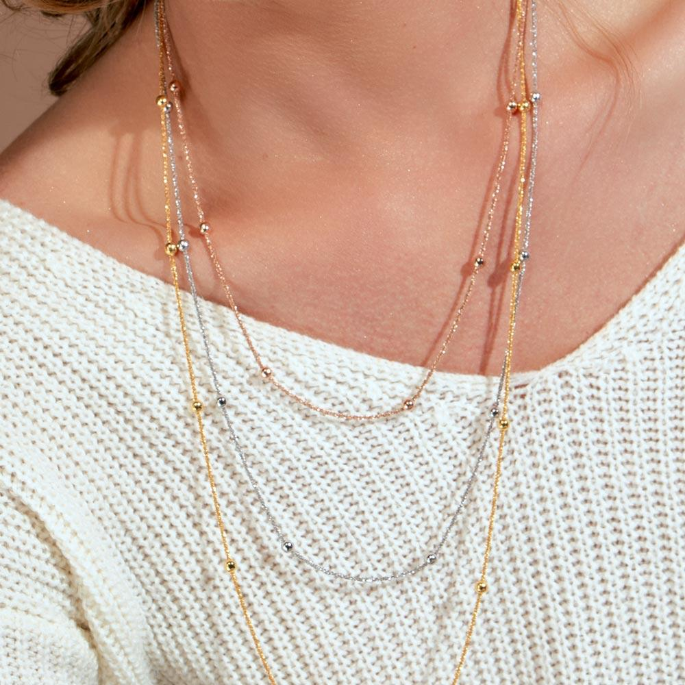 Roc Chain Beads Necklace