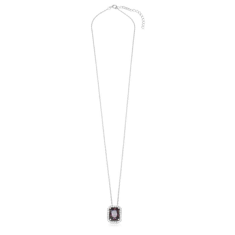 Halo Pendant Amethyst Necklace