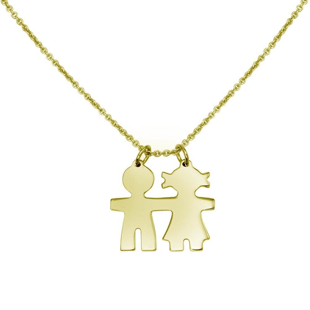 Baby Boy and Girl Pendant Necklace