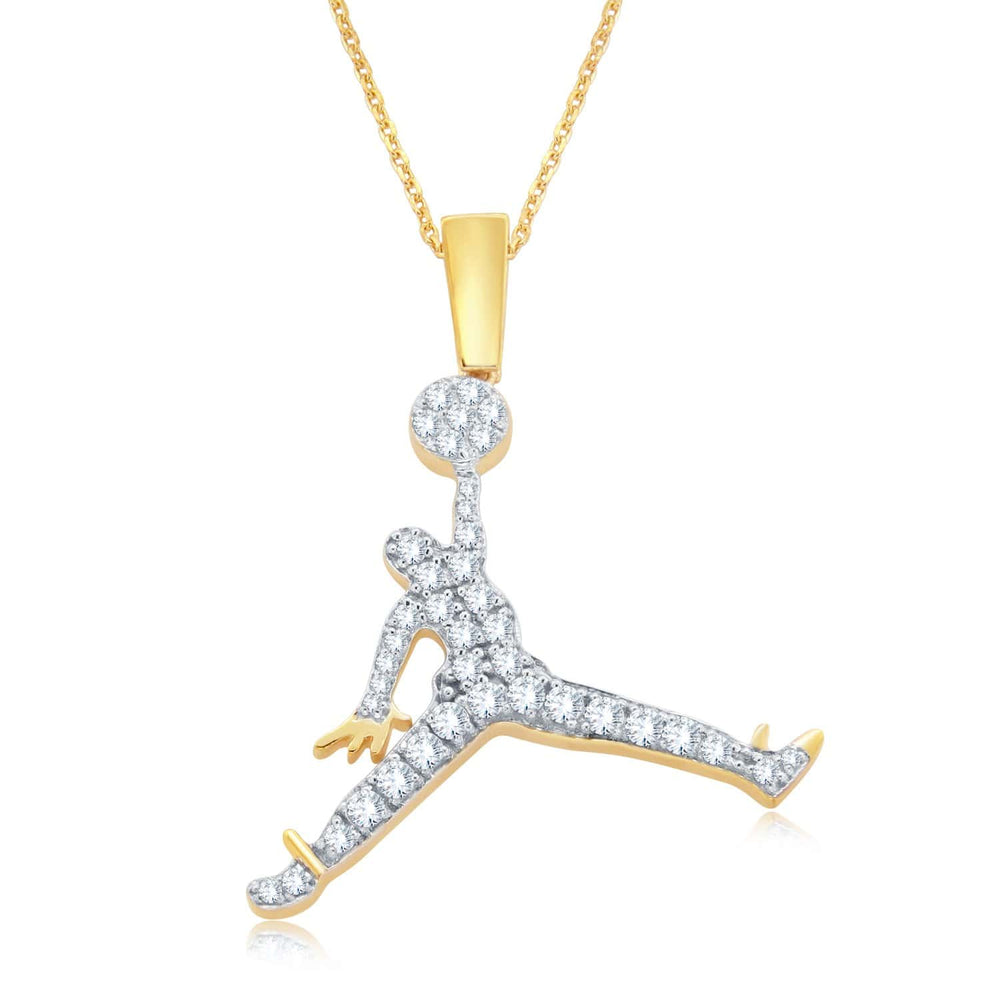 Basketball Jumpman Pendant For Men