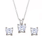 Butterfly Shape Stud Earrings & Necklace Set