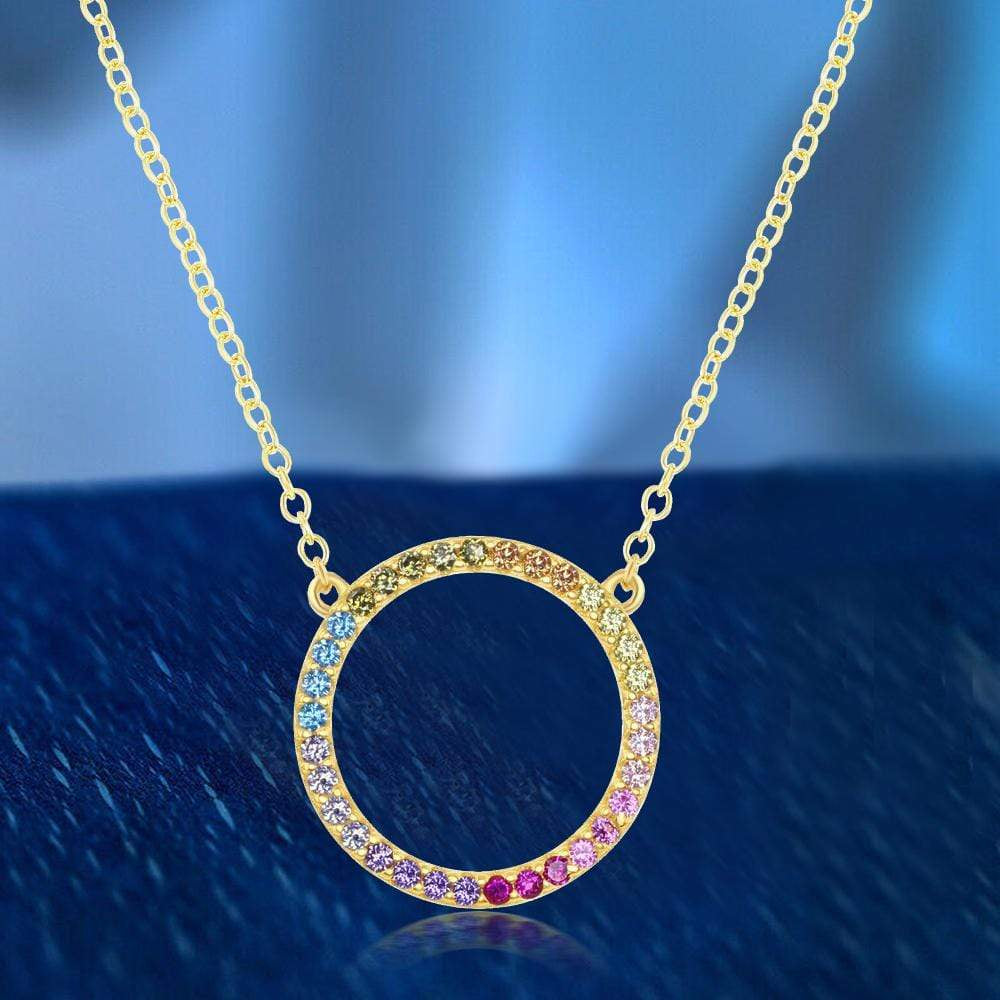 Necklace Circle of Life Necklace In Gold Finished