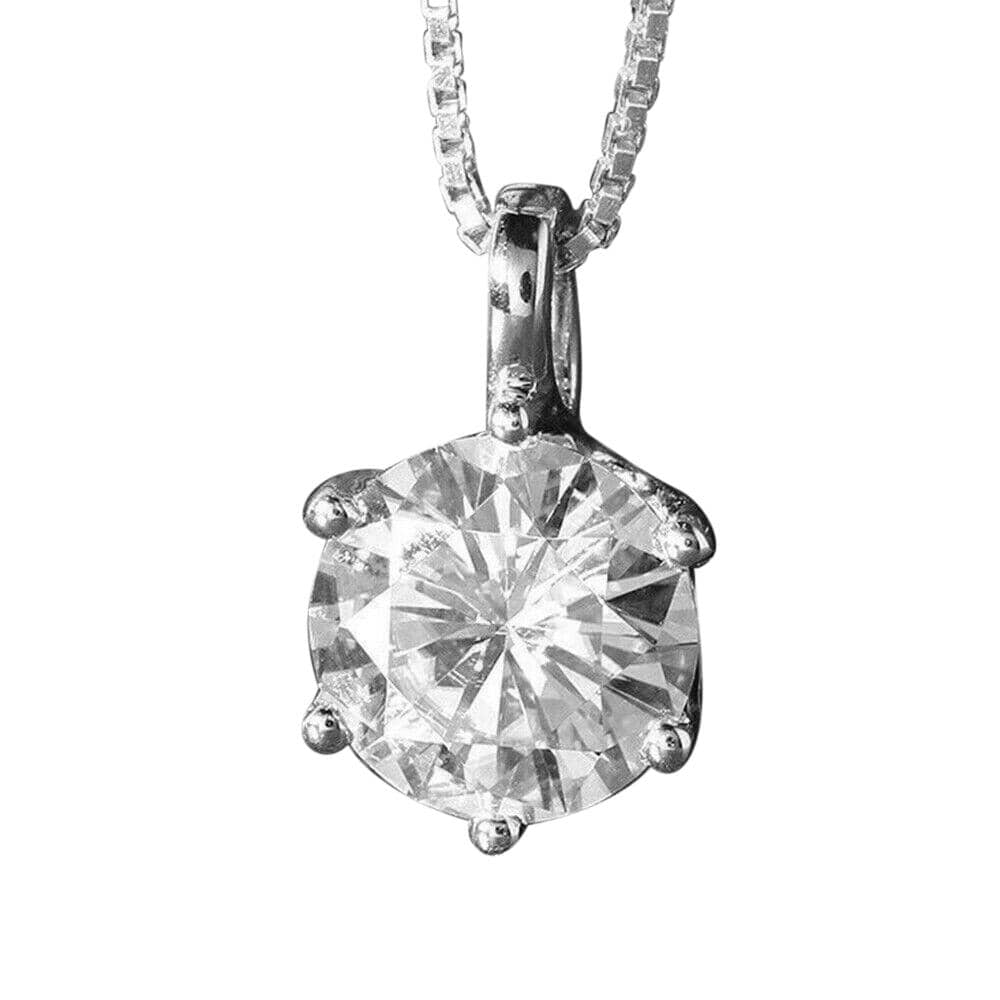 Six Claws Solitaire Pendant Necklace