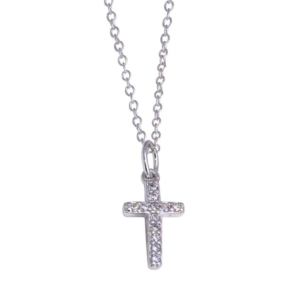 Cross Stud Earrings And Necklace Set