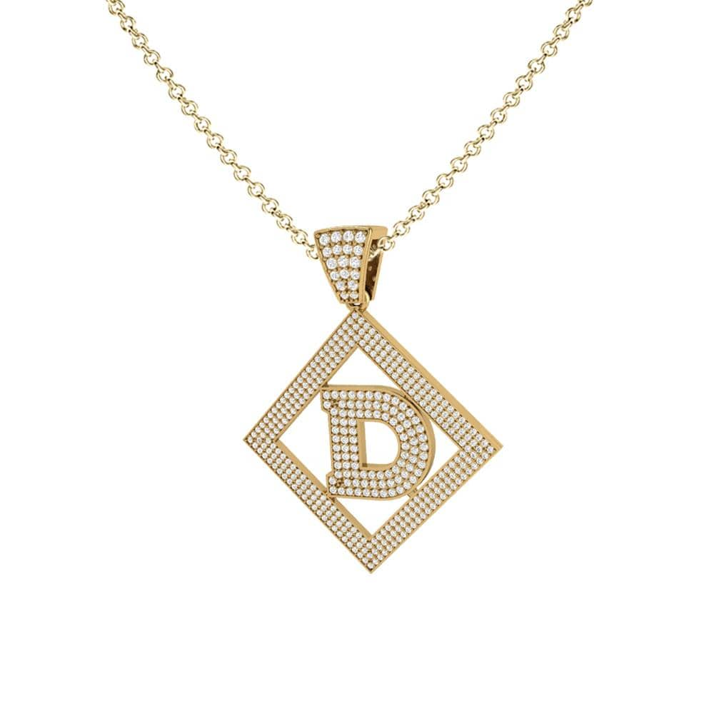 Necklace D Initial Pendant