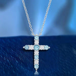 Necklace December Birthstone Cross Necklace December Birthstone Cross Necklace Sterling Silver