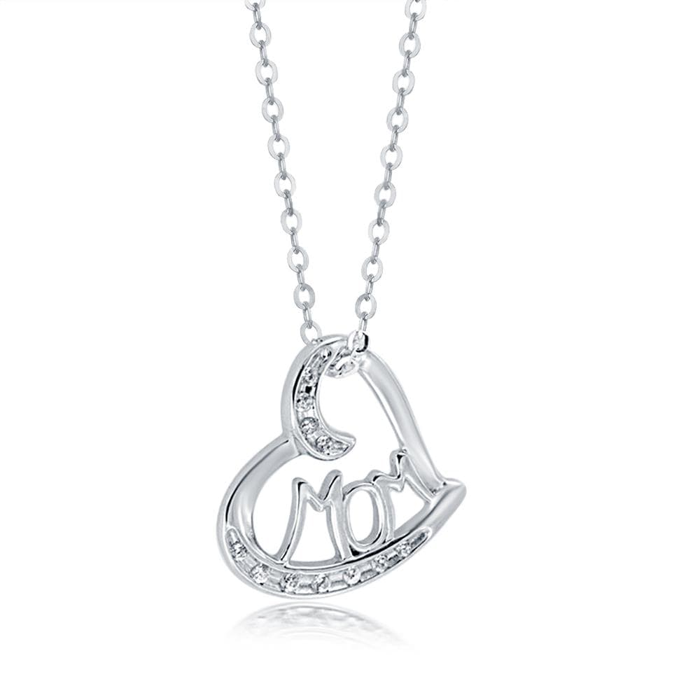 Heart Shape MOM Pendant Necklace